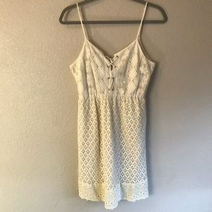 Creamy off white lace dress